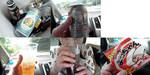 【B.B団】 揚げMenは熱海がお好き(屮゜Д゜)屮 車中で乾杯✩