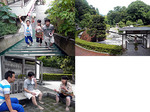 【B.B団】 揚げMenは熱海がお好き(屮゜Д゜)屮 独歩の湯 足湯です・・・