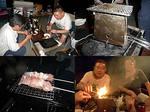 居酒屋『川』14.07 野外生活MT会で行く、ナイトピクニック(*´∇`)σ ネイチャーストーブで焼鳥