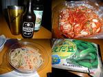居酒屋『川』15.09 S.Wって凄いのね_  ̄ 〇 0日目 ホッピー&キムチ&中華サラダ&枝豆