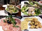 ぷち同窓会 KIRAKUYA 乾杯スパークリング&シーザーサラダ&生ハムの3種盛&味噌チーズ