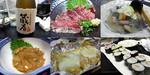 【B.B団】 忘年会14 ゆう 麦&牛たたき&もつ煮&塩辛&芋もちチーズ&細巻き