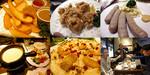 【B.B団】 忘年会14 だん家 あっちのテーブル フライドポテト&鶏唐&ソーセージ&チーズフォンデュ&デザートピザ&酒乾杯