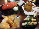 【泥酔友の会】忘年会15 冷トマト&豚角煮フライ&チーズチリ春巻き&ササミ串